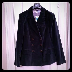 NWT Boden Double Breasted Velvet Jacket - Size 14